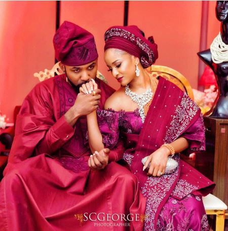 Adesua & Banky W announce their traditional wedding date