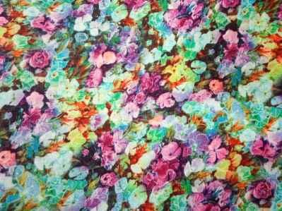 Ткань штапель мелкие цвет на бирюзовом фоне кпить оптом и в розницу недорого в Украине