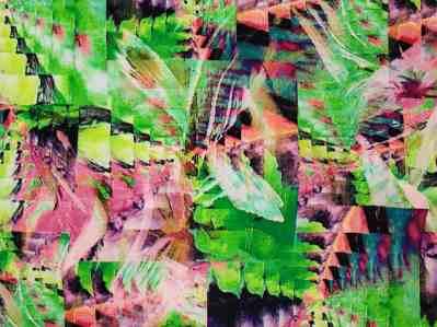 Ткань штапель тропический принт зелень купиь оптом и в розницу в Украине