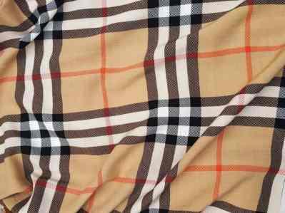 Ткань Штапель клетка Burberry купить оптом и в розницу в Украине