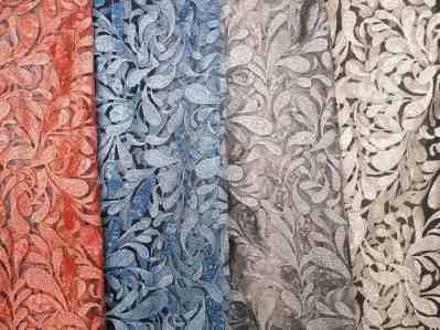 Ткань Макраме-Пайетка Купон в цветах купить оптом в Украине