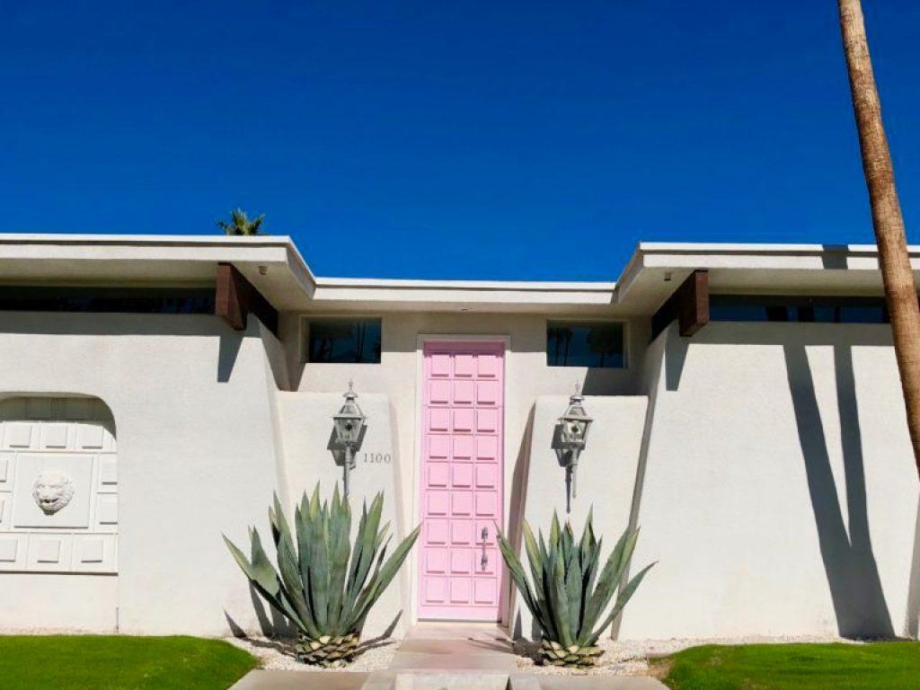 1100 Pink door fav tall pink door palm springs door tour