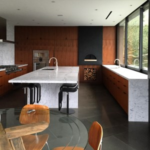Kitchen Cabinets with Pizza Oven