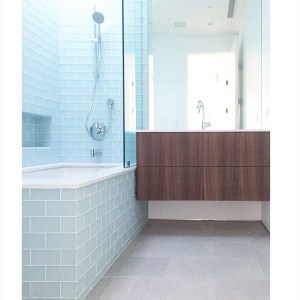 Modern Bathroom Cabinet in Venice California - Walnut
