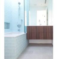 Modern Bathroom Cabinet in Venice California - Walnut QR156