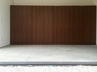 Modern Murphy Bed Made with Walnut Wood