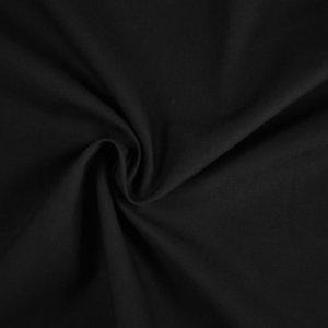 Baumwolle-uni-schwarz