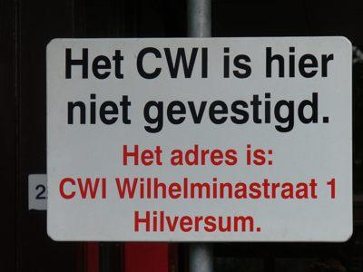 Het CWI is hier niet gevestigd