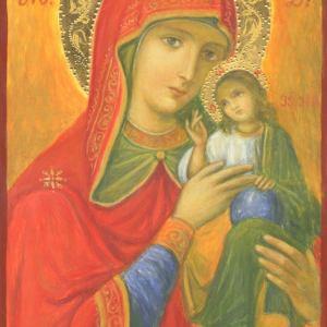 Icoană pictată Maica Domnului 4