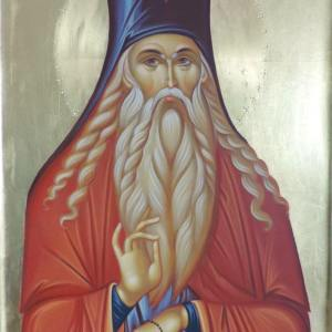 Icoană pictată Sf. Paisie de la Neamț
