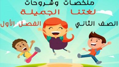 Photo of جميع الملخصات والشروحات في مادة اللغة العربية للصف الثاني للفصل الأول
