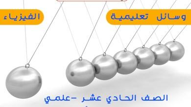 Photo of الوسائل التعليمية في مادة الفيزياء للصف الحادي عشر علمي الفصل الأول