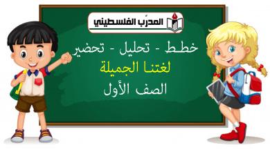 Photo of تجميع الخطط والتحليل والتحضير للغة العربية – الصف الأول – الفصل الاول