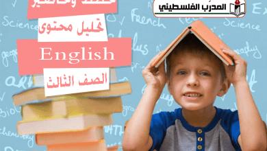 Photo of خطط وتحاضير وتحليل اللغة الانجليزية – الصف الثالث – الفصل الاول