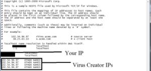 صورة IP لملف host
