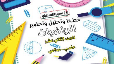 Photo of خطط وتحاضير وتحليل في مادة الرياضيات – الصف الثاني عشر – علمي وصناعي