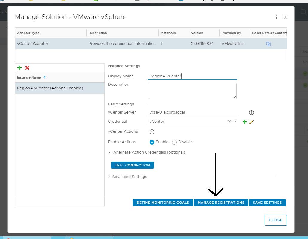 Updating vROps Instance in vCloud Usage Meter