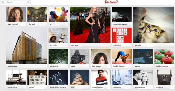 Home page Pinterest