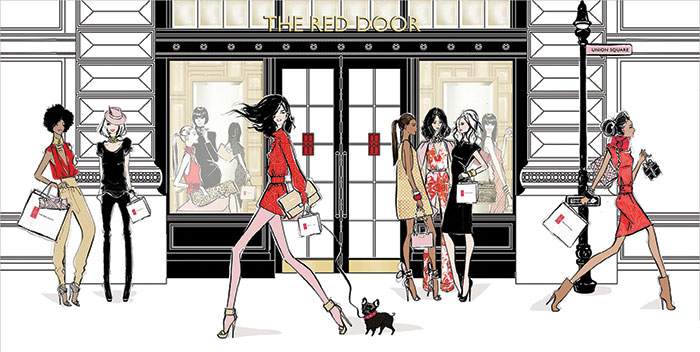 Elizabeth Arden The Red Door Spa  in Union Square a New York