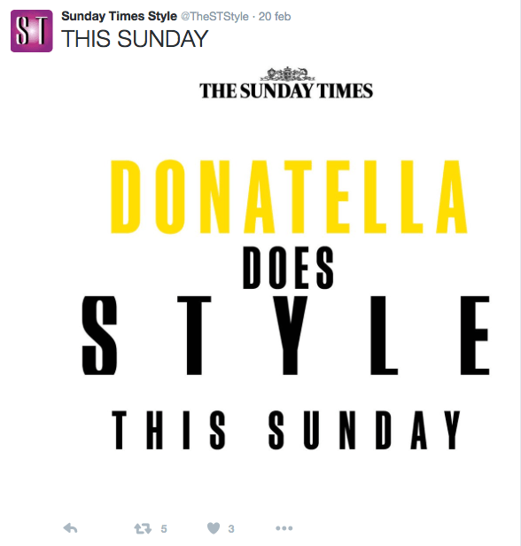 Immagine tratta dall'account Twitter @TheSTStyle