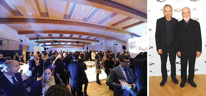 L'evento 'A sustainable drink for a sustainable fashion', Carlo Capasa e Michelangelo Pistoletto.
