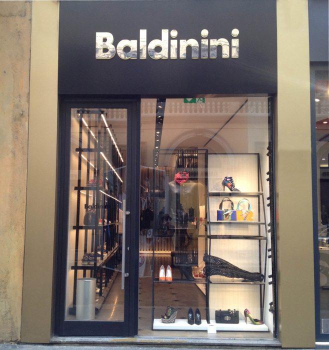Lo store Baldinini in via Montenapoleone 25