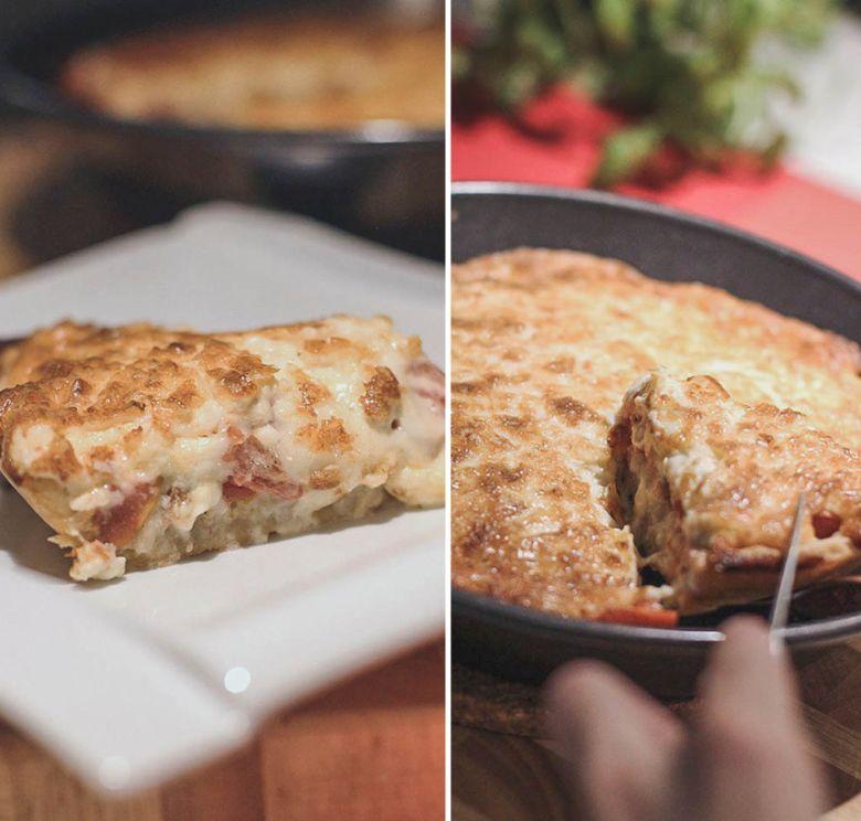 torta de tomate e queijo