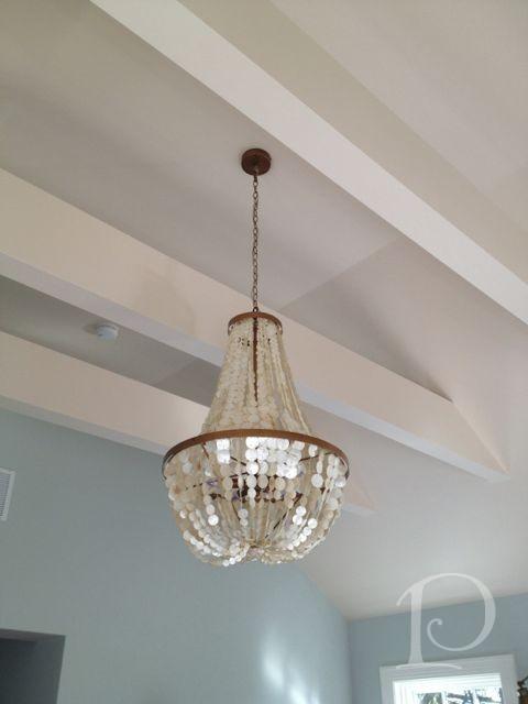 Gina Project Capiz Shell Chandelier Master Bedroom