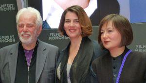 Alejandro jodorowsky, Pamela Flores , Pascal Montadon. Filmfest München.