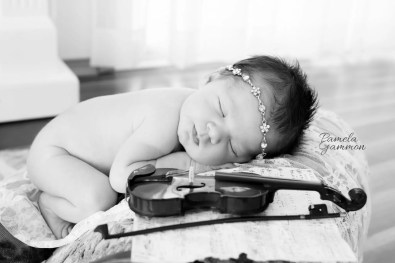 Baby Violinist Photography   Baby Fiddler Photos   Newborn Violinist Pictures   Baby Musician Photography   Baby Pictures with Instruments