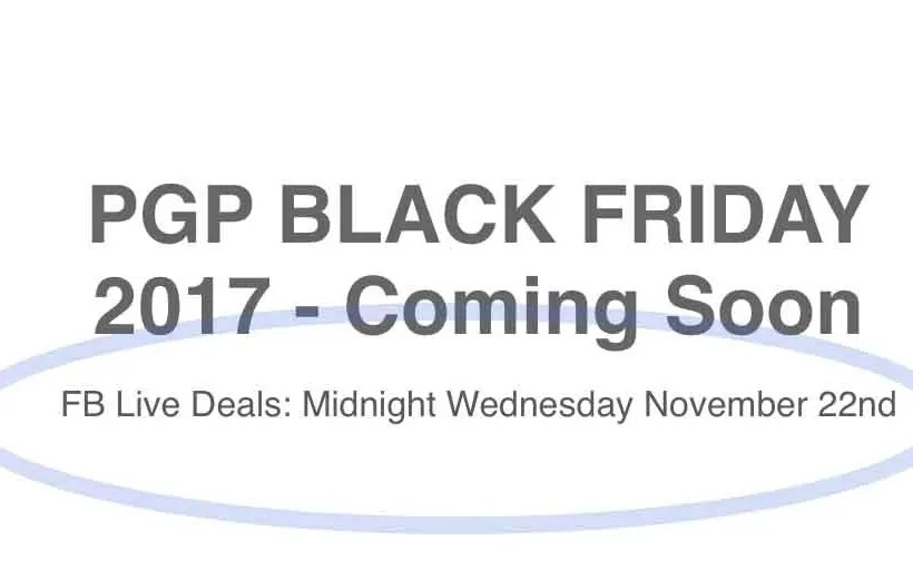 PGP Black Friday 2017