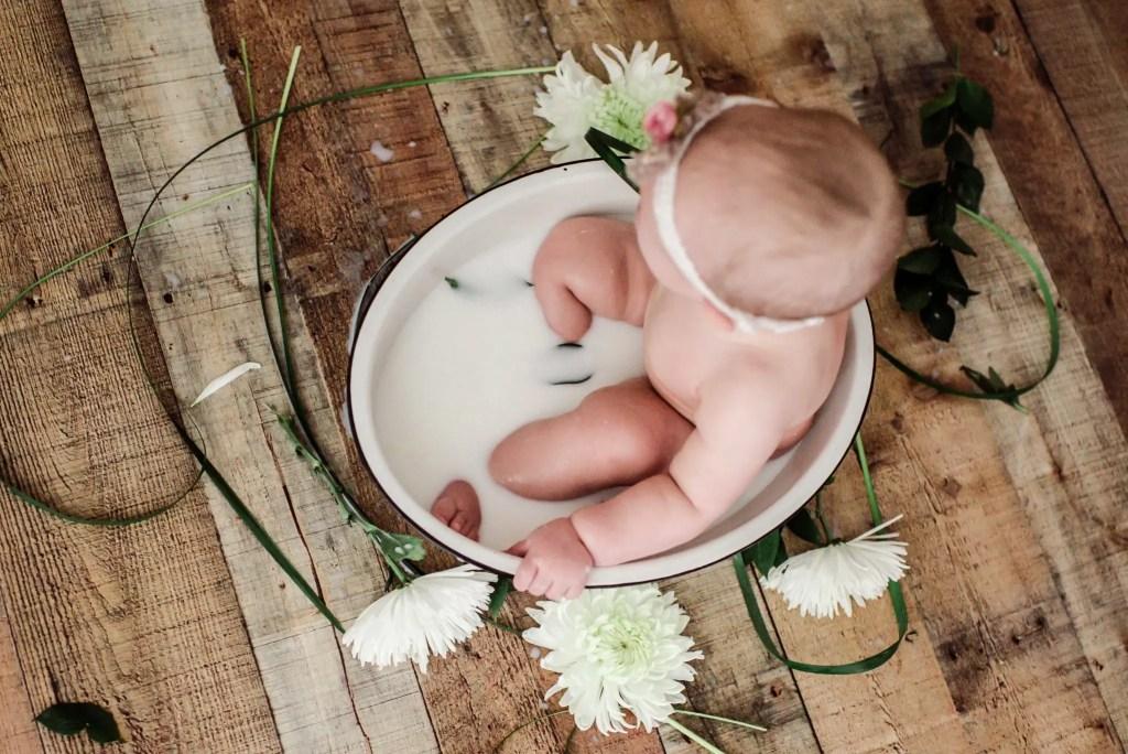 Baby Milk Bath Photography Ohio