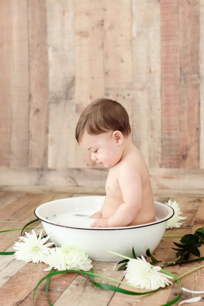 Baby Boy Milk Bath Session