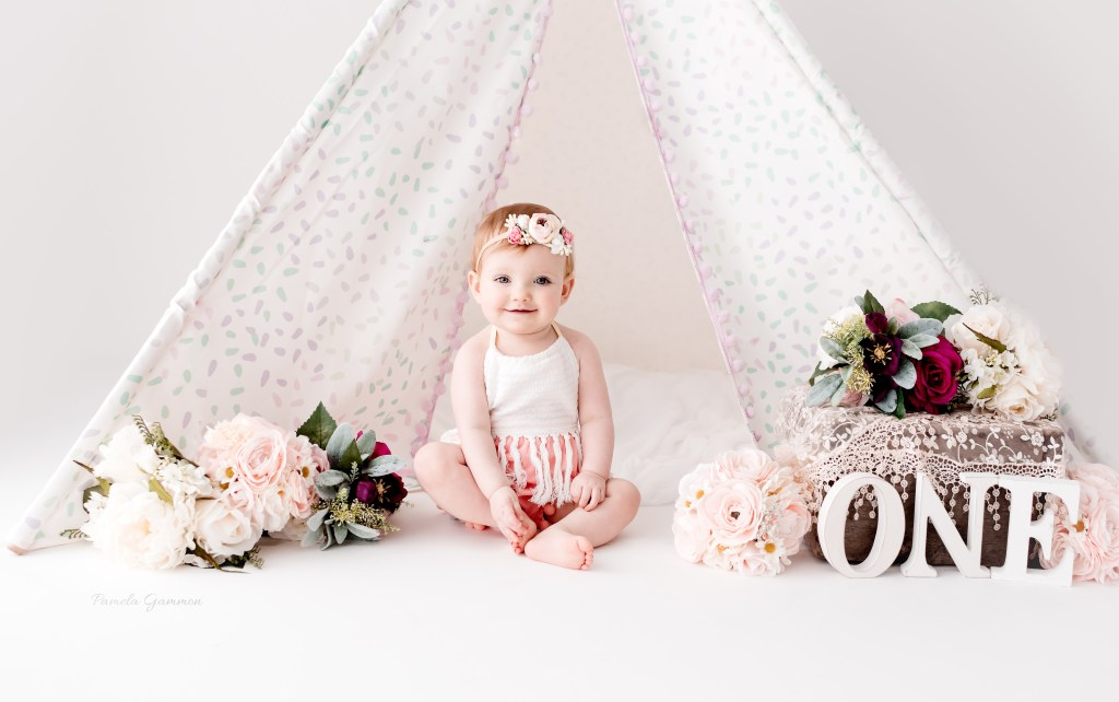 Girl One Year Session Teepee