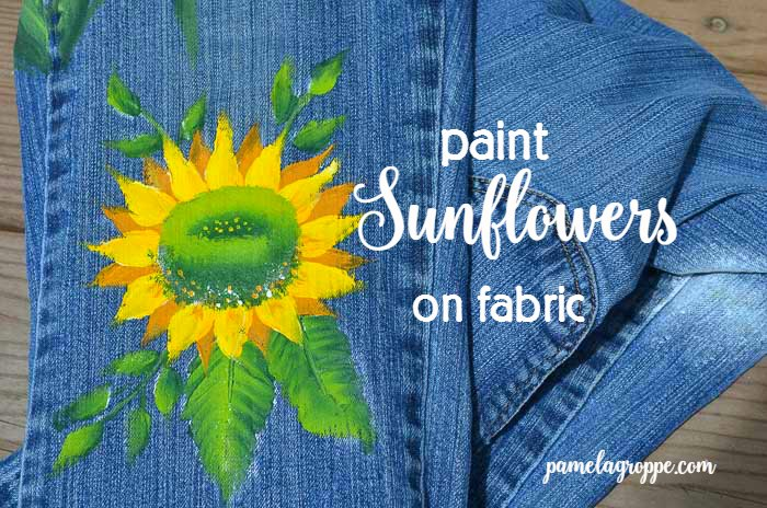 Paint Sunflowers on Fabric.