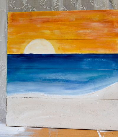 Paint a Sunset Beach Scene