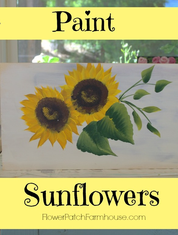 Learn How to Paint Sunflowers for Beginners. Super simple instructions with video link to show you how to paint gorgeous sunflowers. Easy enough for kids.