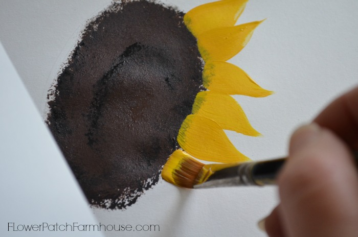 How to Paint Sunflowers for beginners