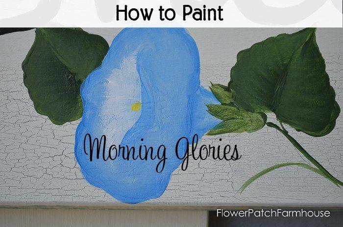 Paint Morning Glories