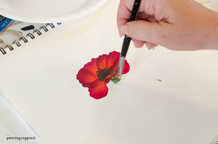 Paint Poppy Stem