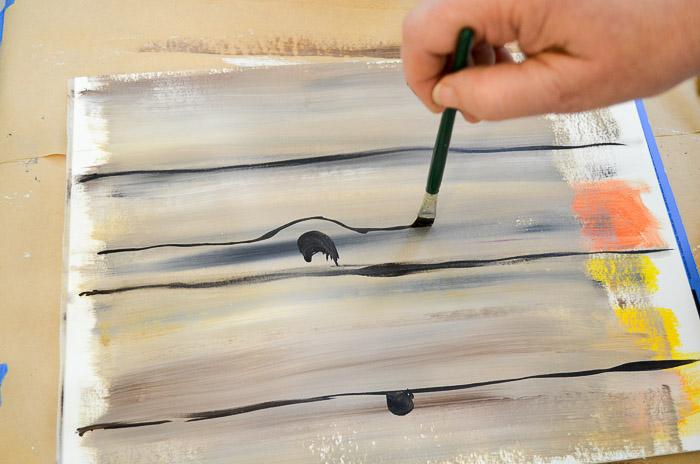 how to paint faux wood grain tutorial add details