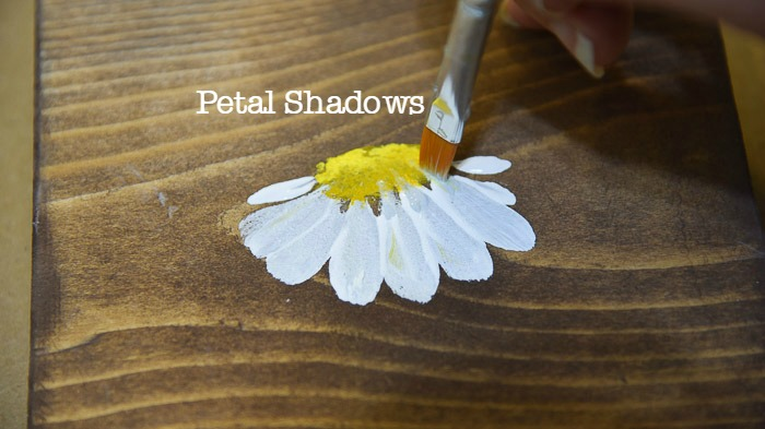 Painting a daisy, adding shadows, Paint Beautiful Daisies workbook and tutorial