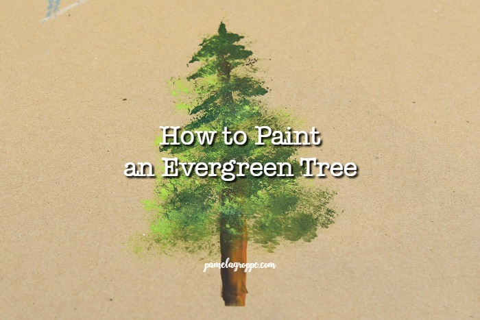 Easy to Paint Evergreen Tree in Acrylics