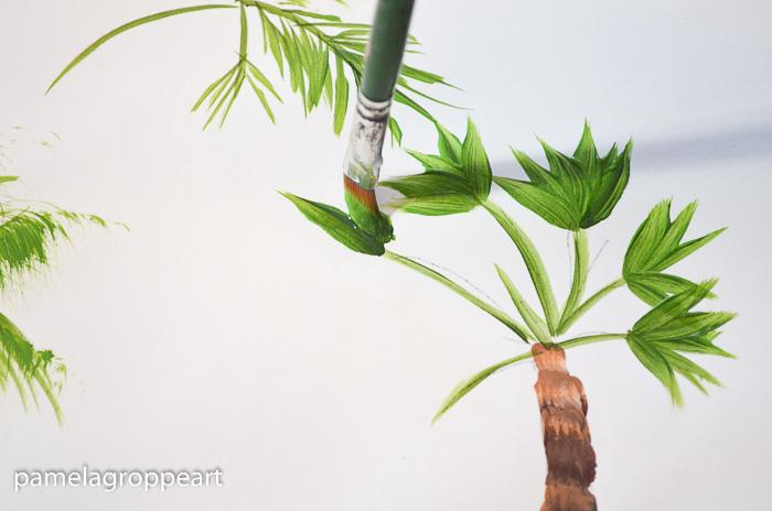 Easy Paint Palm Trees Pamela Groppe Art