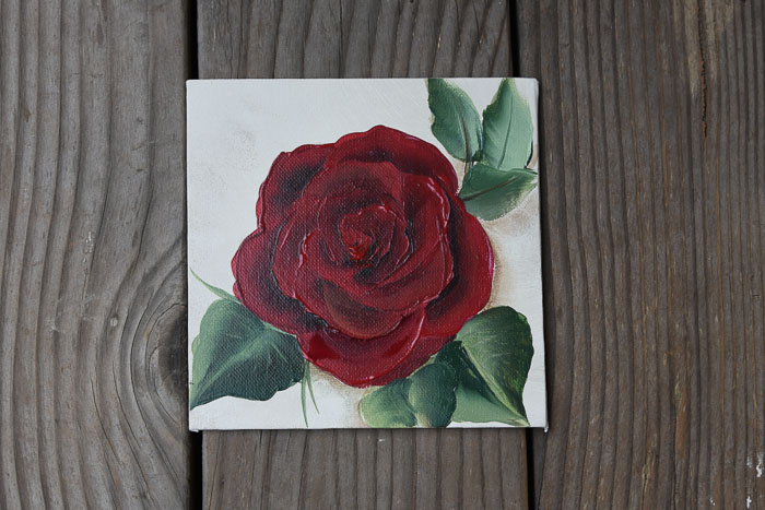 Paint a Red Rose in Acrylics