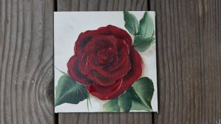 easy Paint a Red Rose