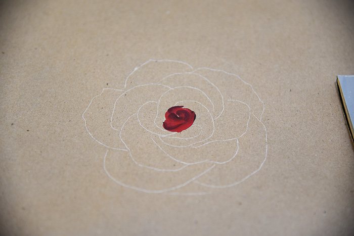 Inner part of rose painting, How to Paint a Rose, Pamela Groppe Art