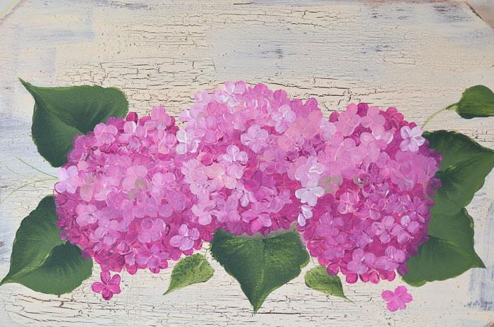 Paint Hydrangeas in Acrylics