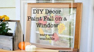 How to Paint Fall Leaves on Glass