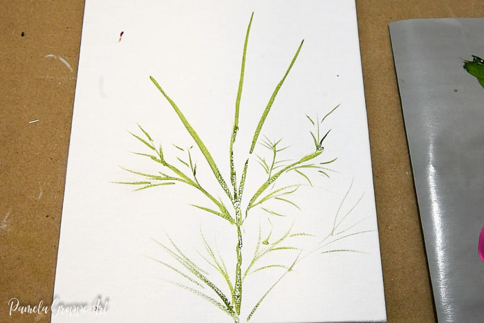 painting comos foliage, leaves